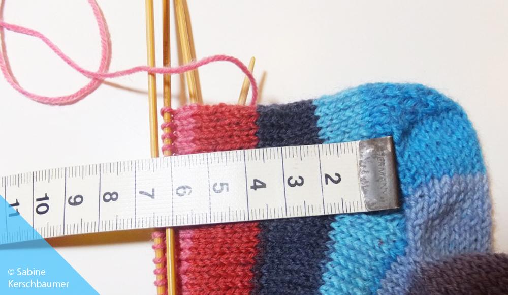 Länge von Babysocken messen