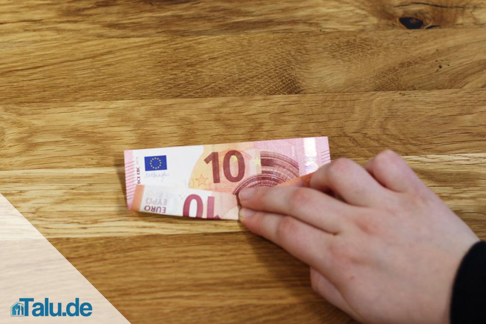 Geldschein Zu Einer Blume Falten Faltanleitung Talu De