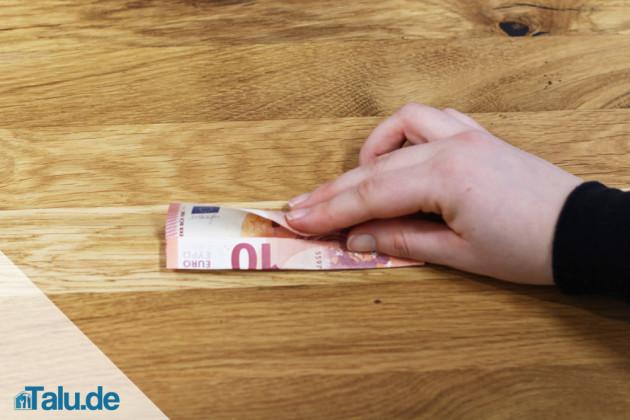 Geldschein-Blume falten