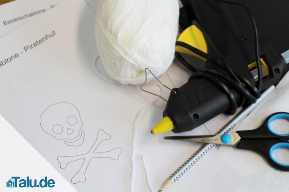 piratenhut-karton-material