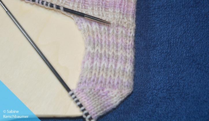 Socken 4-fädig stricken