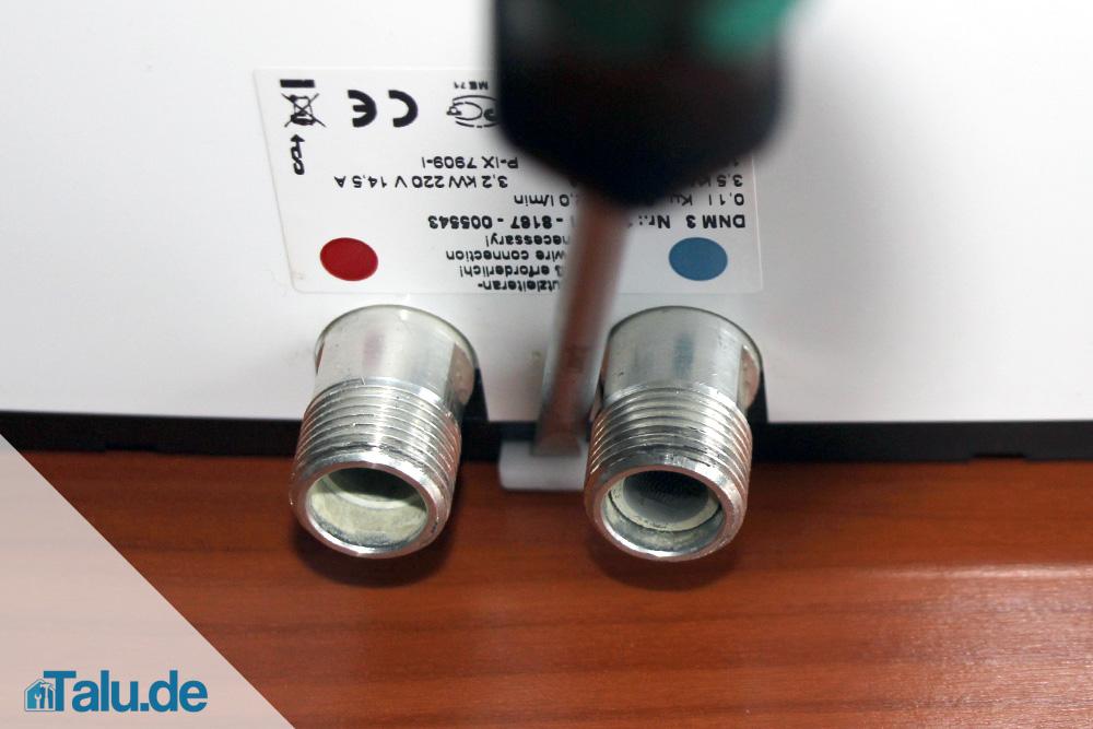 Montage elektrischer Durchlauferhitzer