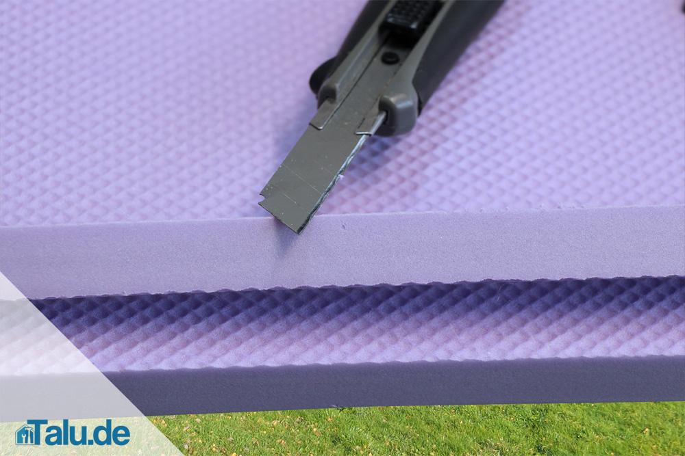 Bevorzugt Styrodur richtig schneiden und kleben - Talu.de LP61