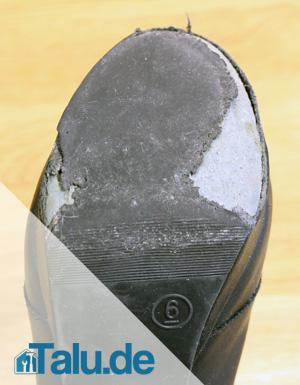 kaputte Schuhsohle