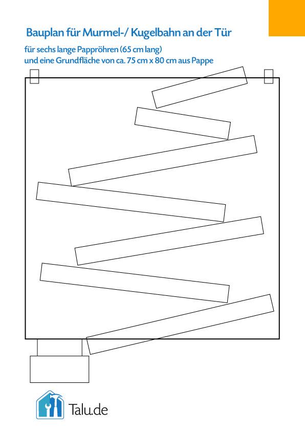 einfache murmelbahn selber basteln kugelbahn bauen. Black Bedroom Furniture Sets. Home Design Ideas