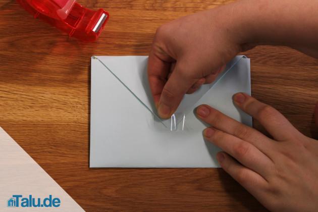 Faltanleitung für Briefumschlag