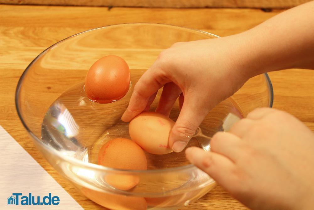Eier säubern