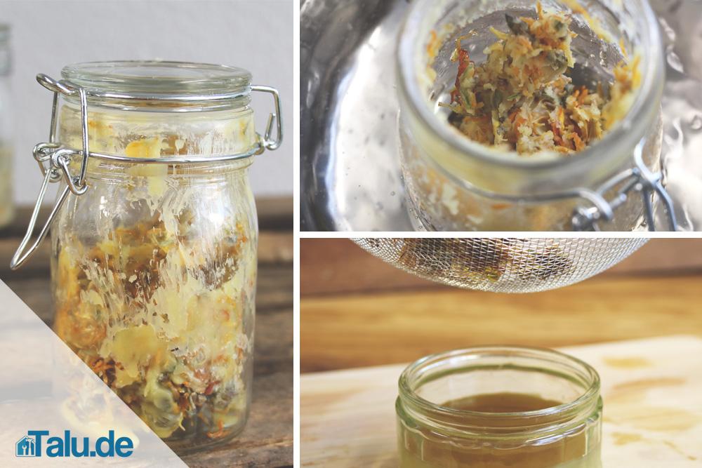Rezept für Ringelblumen-Salbe
