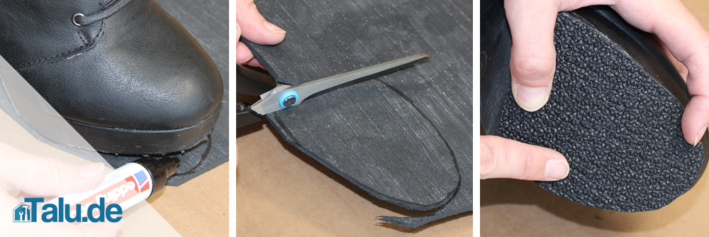 Schuhsohle reparieren