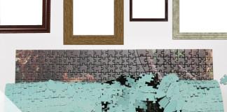 Puzzle kleben