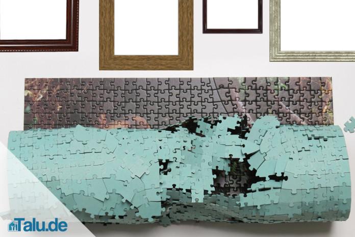 puzzle kleben und aufh ngen so geht 39 s. Black Bedroom Furniture Sets. Home Design Ideas