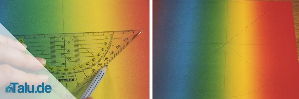 Bei acht Stücken müssen Sie 45 ° für den inneren Winkel jedes Stückes berechnen.