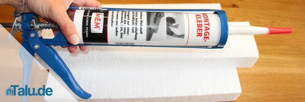 Montagekleber speziell für Styropor