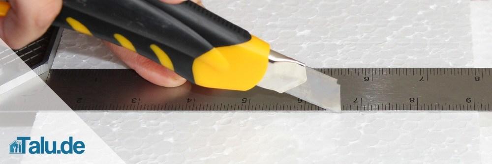 Cuttermesser ist nur für dünne Platten geeignet