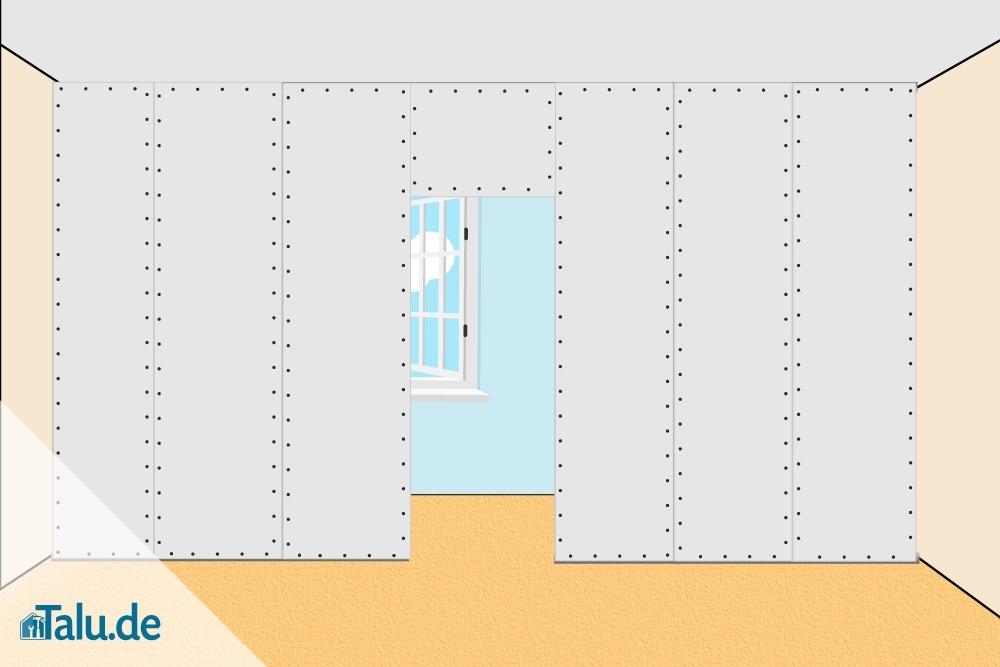 Hervorragend Trockenbauwand mit Gipskartonplatten errichten - Talu.de ZI14