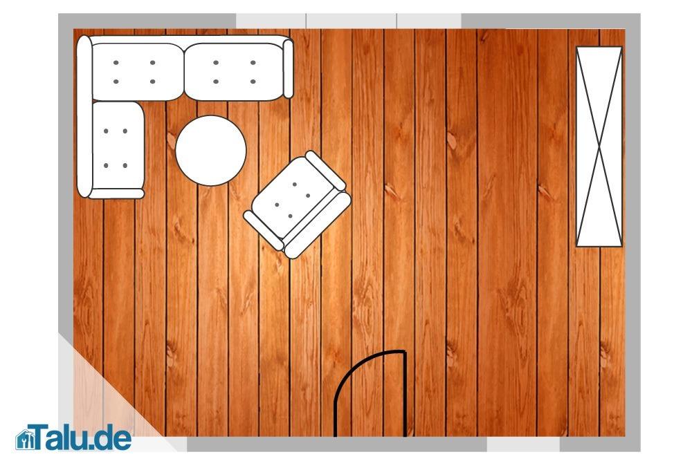 verlegerichtung von laminat 5 fallbeispiele und tricks. Black Bedroom Furniture Sets. Home Design Ideas