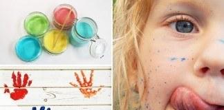 Fingermalfarbe selber machen