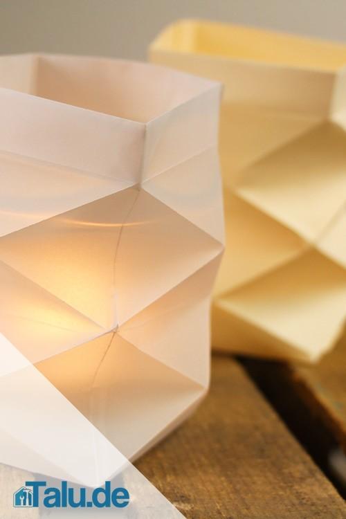 Teelichthalter Aus Papier Basteln 4 Bastelanleitungen Talude