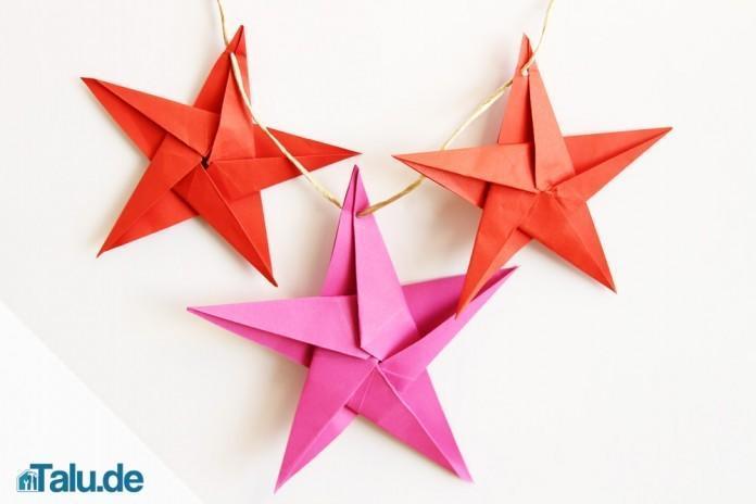 Origami Stern Falten Stern Aus Papier Basteln Talu De