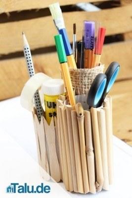 Stiftehalter aus Pappe basteln