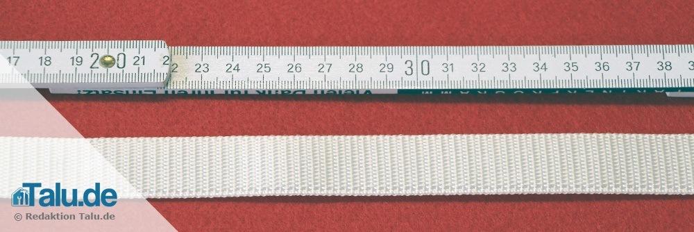 Gurtlänge ausmessen