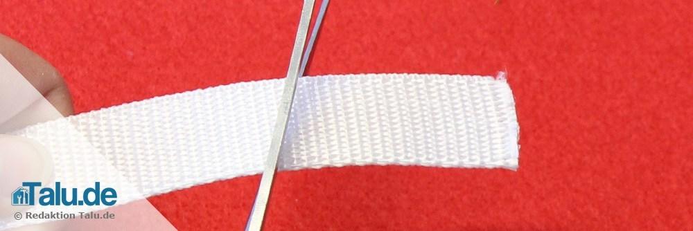 Rollladengurt abschneiden