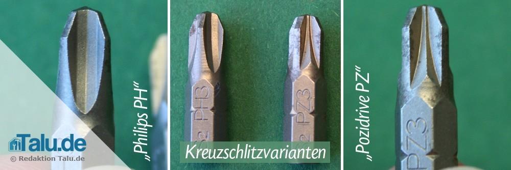 Kreuzschlitz Schrauben