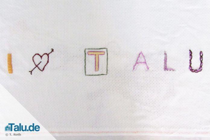Häufig Buchstaben sticken - so einfach geht´s! - Talu.de EA04