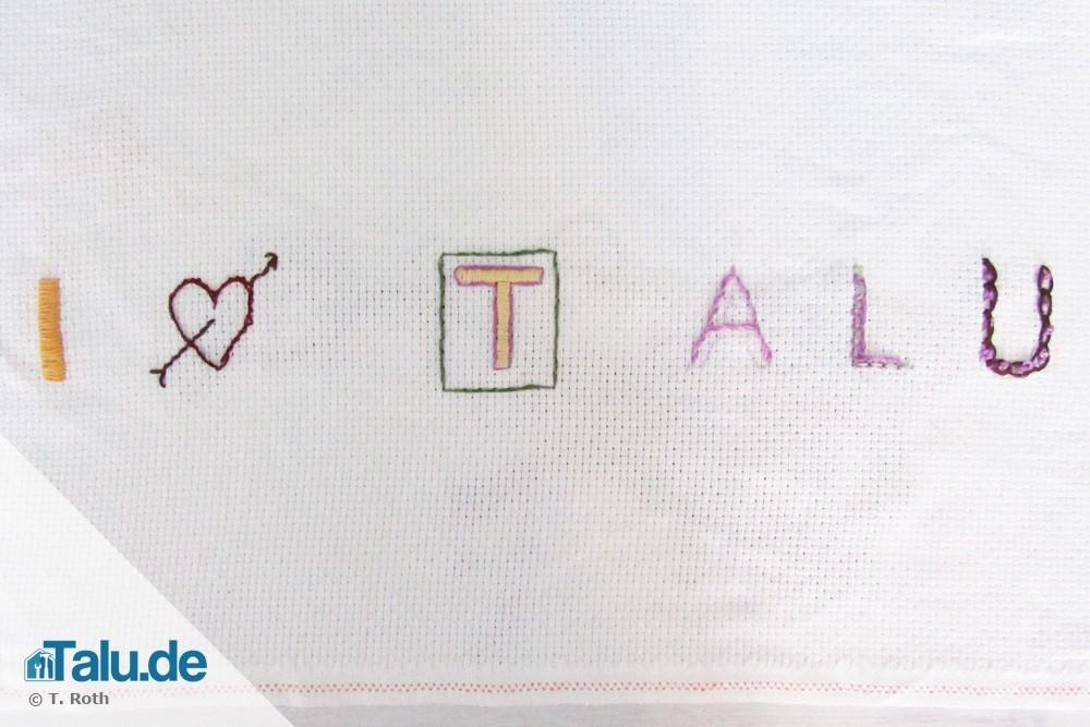 Berühmt Buchstaben sticken - so einfach geht´s! - Talu.de FO85