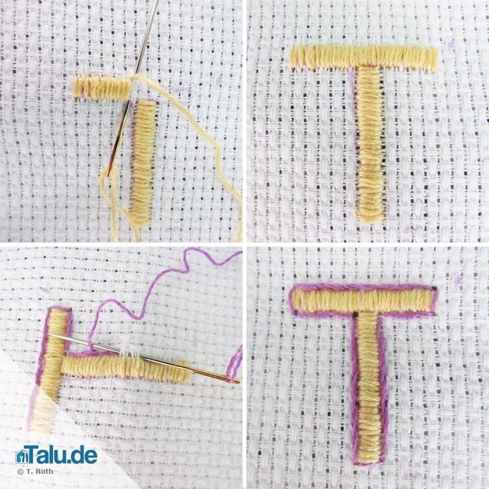 Hervorragend Buchstaben sticken - so einfach geht´s! - Talu.de AP11