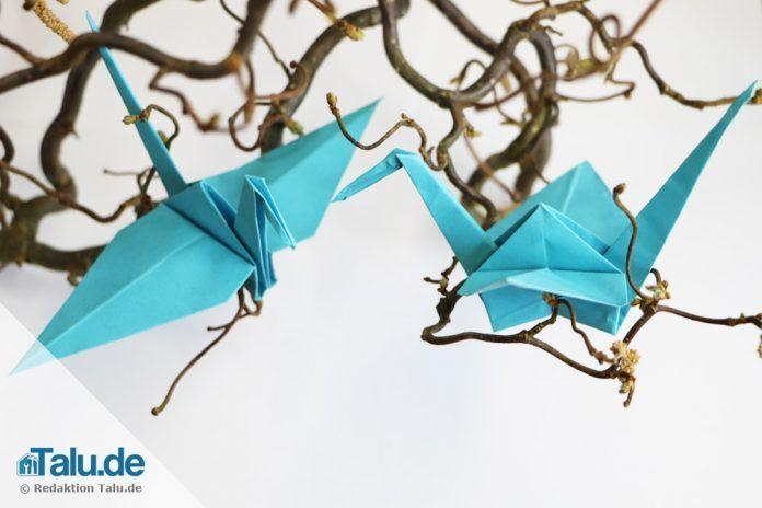 Origami Kranich Falten Einfache Diy Anleitung Talude