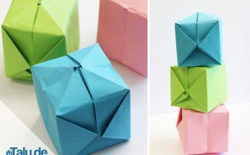 Origami Würfel falten