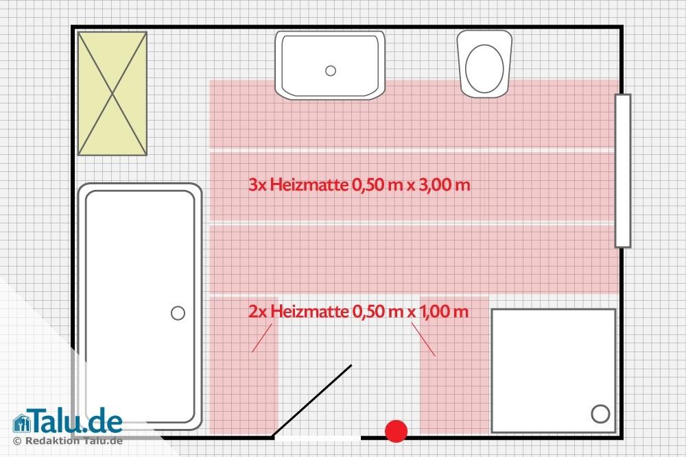 diy elektrische fu bodenheizung verlegen und anschlie en. Black Bedroom Furniture Sets. Home Design Ideas