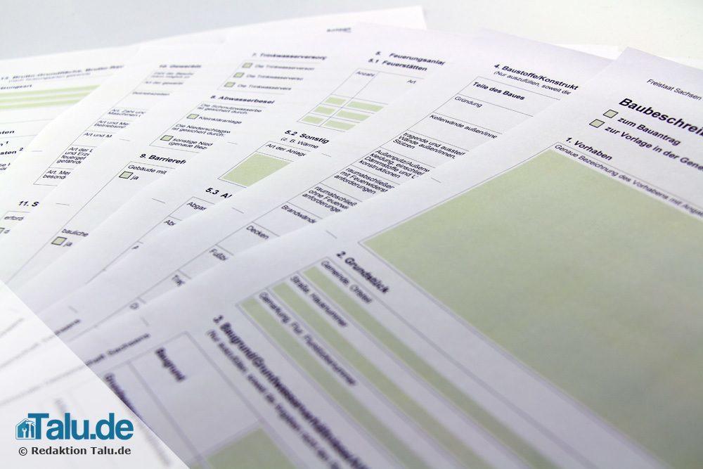 Viele Unterlagen für den Bauantrag notwendig