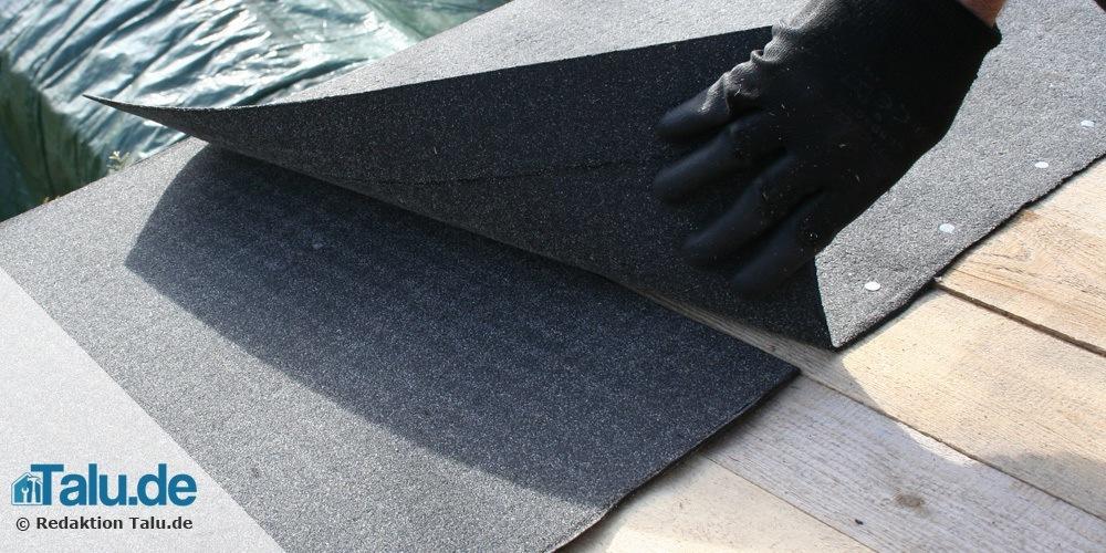 Dachpappe mit Überlappung