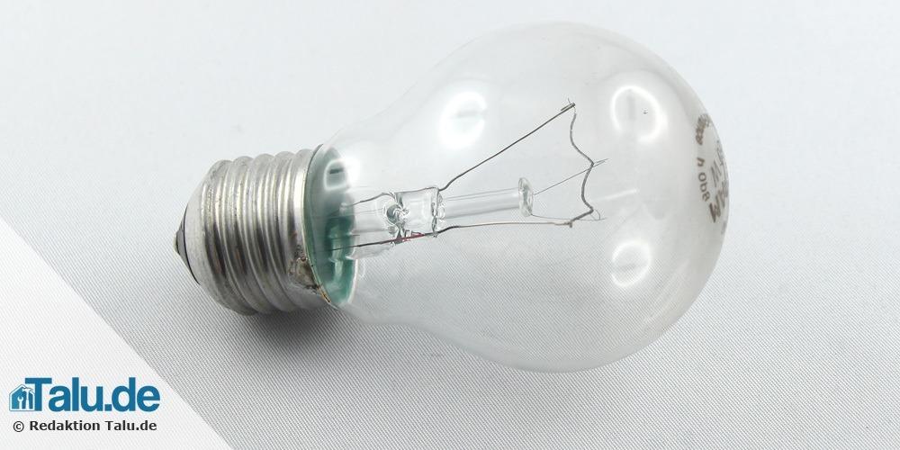 Glühlampe entsorgen
