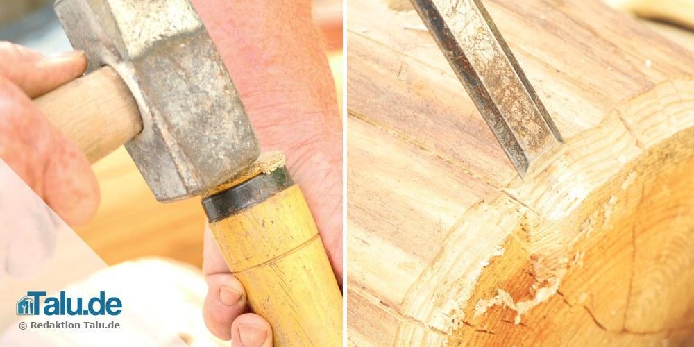 Holzkanten abschrägen