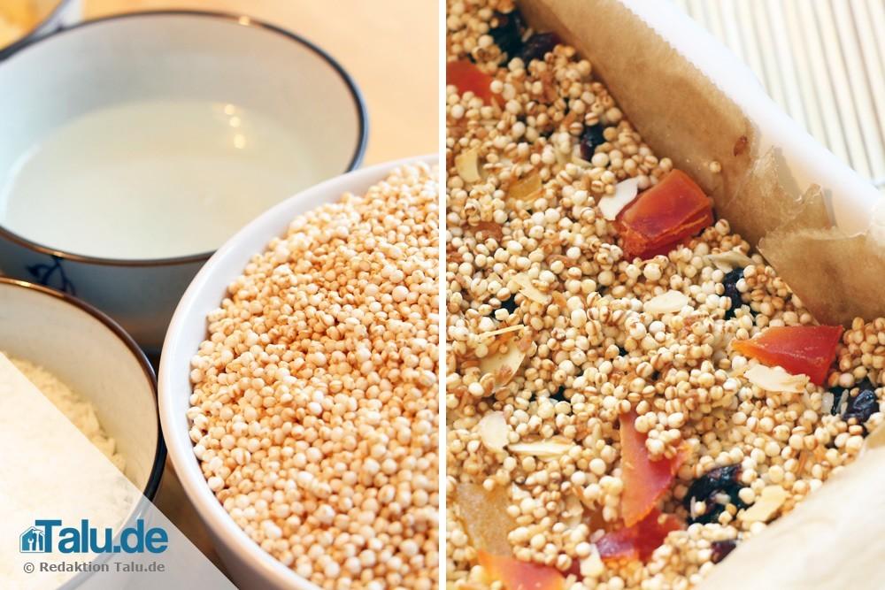 Müsliriegel mit Quinoa selber machen