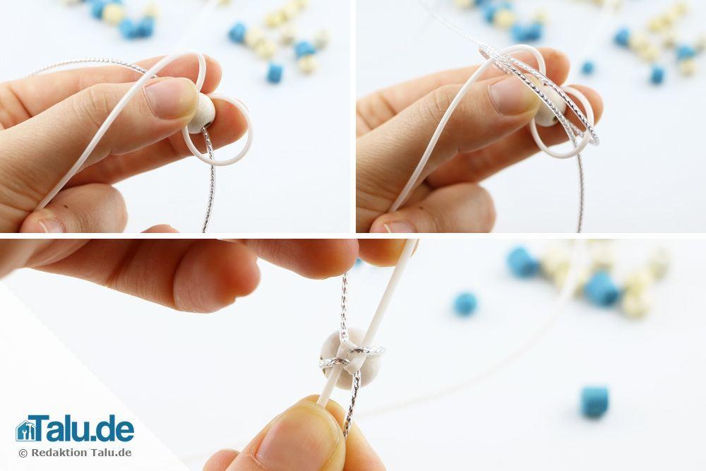 Scoubidou-Armband mit runden Knoten