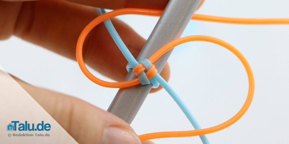 den runden Knoten flechten