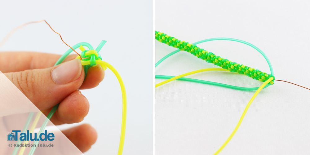 Scoubidou-Schlange mit runden Knoten