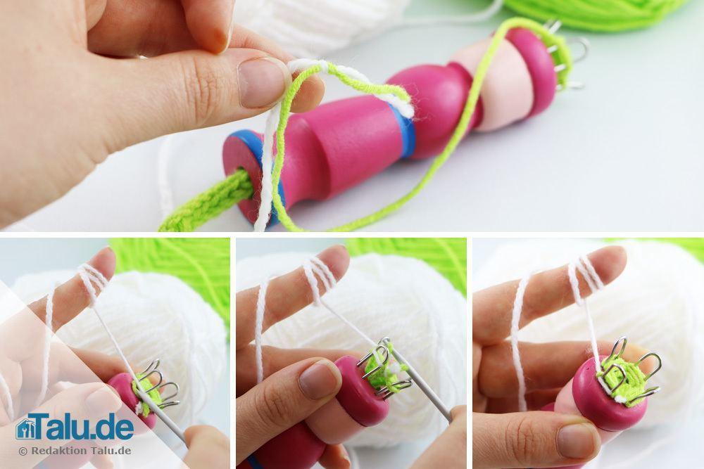 farbwechsel beim stricken mit der strickliesel - Strickliesel Muster