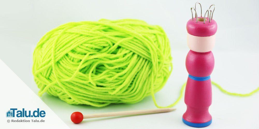 Strickliesel und Wolle