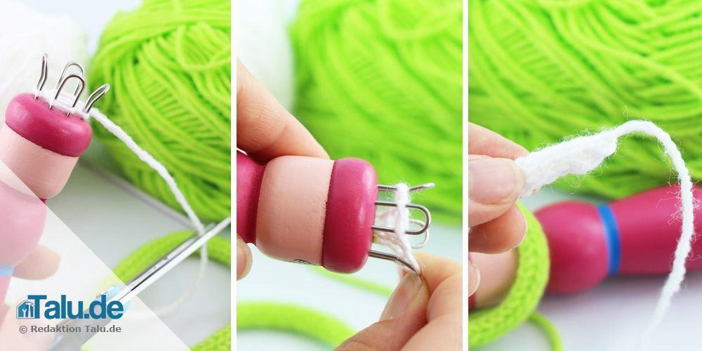strickliesel stricken der schluss - Strickliesel Muster