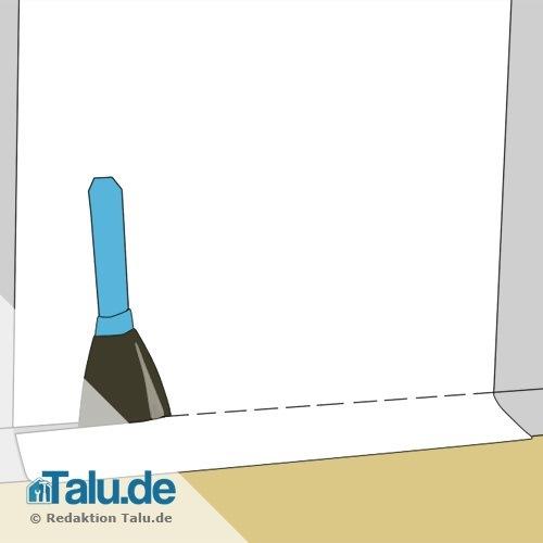 rauhfaser selbst tapezieren diy anleitung. Black Bedroom Furniture Sets. Home Design Ideas