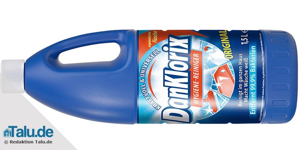 Chlorreiniger zum Fenster putzen