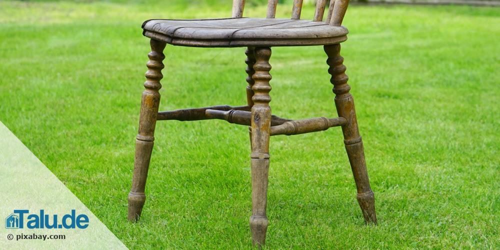 Möbel im Freien ablaugen