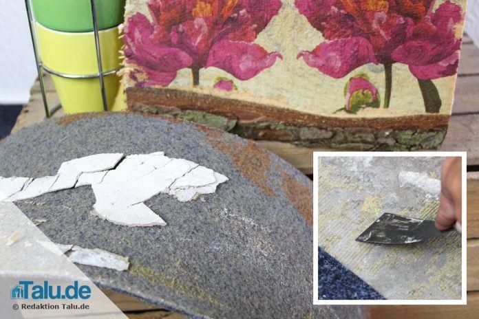 Teppichkleber entfernen