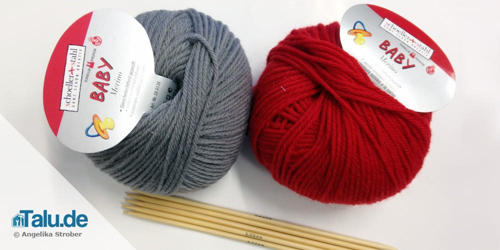 Babyschuhe stricken - die passende Wolle