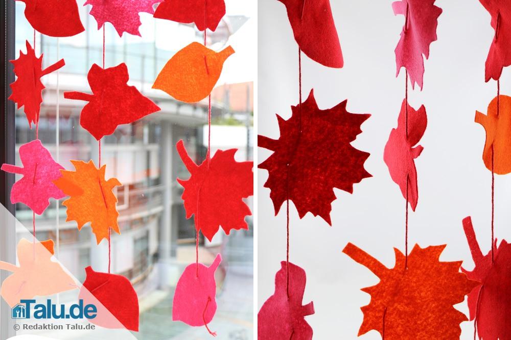 Blättervorhang basteln